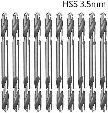 3.5mm 10pcs HSS Double Ended Spiral Torsion Drill Tools Drill Set