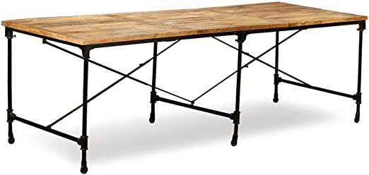 vidaXL Mesa Comedor 240 cm Madera Mango Mueble Mobiliario Cena ...