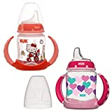 NUK 2 Count Pretty In Pink Leaner Cup, 5 oz (Hearts/Hello Kitty)