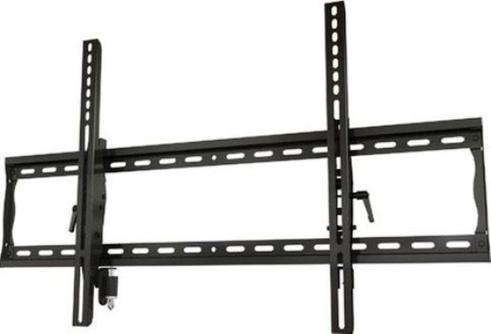 "Crimson AV T63L Universal Tilting Mount with Lock for 37"" to 63\""+ Flat Panel Screens, Black, 200lb (91kg) weight capacity, Depth from wall 2.2\"" (55.8mm), Tilt +15°/-5°, High-grade cold rolled steel construction, Scratch resistant epoxy powder coat"