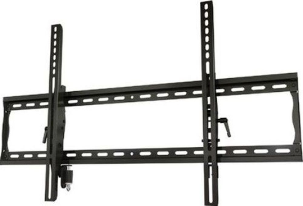 Crimson AV T63L Universal Tilting Mount with Lock for 37'' to 63''+ Flat Panel Screens, Black, 200lb (91kg) weight capacity, Depth from wall 2.2'' (55.8mm), Tilt +15°/-5°, High-grade cold rolled steel construction, Scratch resistant epoxy powder coat