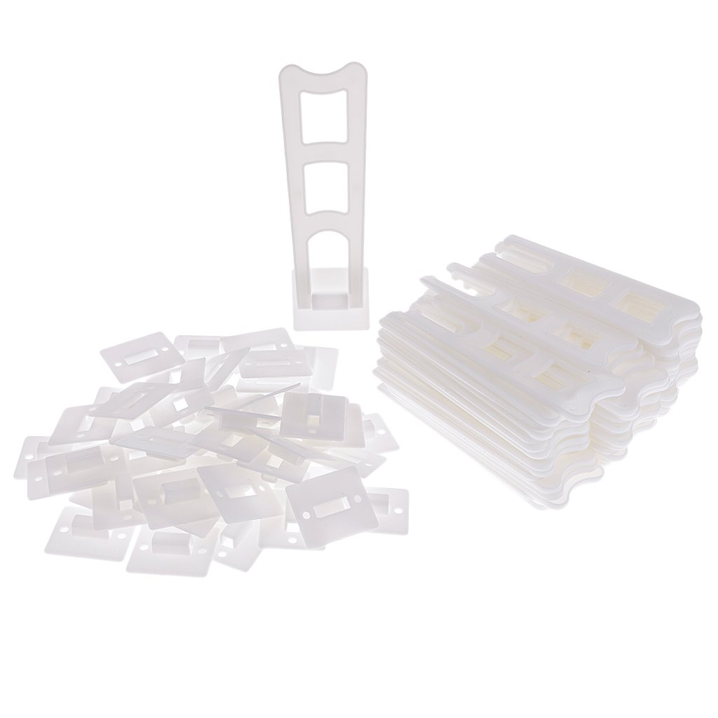Baoblaze 50 Piece Home Picture Photo Frame Holder Support Display Easels Stand White #2