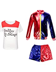 Girls Kids Harlequin Outfit Halloween carnival FancyDress