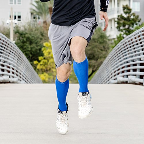 Compression Socks for Men & Women – BEST Medical Grade Graduated Recovery Stockings for Nurses, Maternity, Travel, Running, Leg Relief, Prevent Swelling, Calf Pain, Shin Splints (Blue,XL) by Run Forever Sports (Image #5)