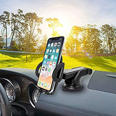 Cellet Car Phone Mount Extendable Windshield and Dashboard Holder Compatible for LG V40/Q7+/Q6/Stylo4/Stylo 3/Q Stylus/V35 ThingQ/V30/V20/Premier Pro LTE/K30/G7/G6/G5/ThinQ/K8/K20/Phonix Plus