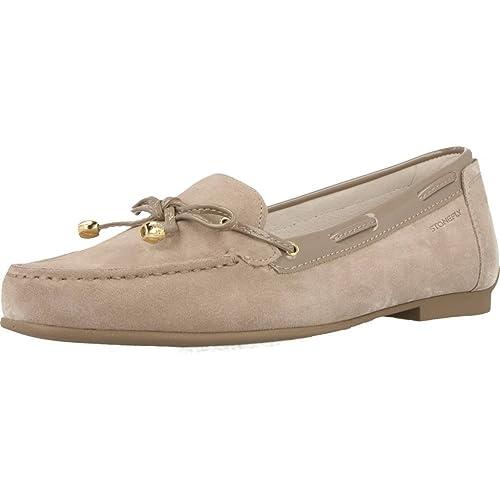 Mocasines para mujer, color Hueso , marca STONEFLY, modelo Mocasines Para Mujer STONEFLY CAPRI III 1 Hueso: Amazon.es: Zapatos y complementos