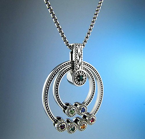 Grandmothers Birthstone Necklace - Gift for Grandma - Family Jewelry - Custom made to order in 1-Day, Children's Birthstones