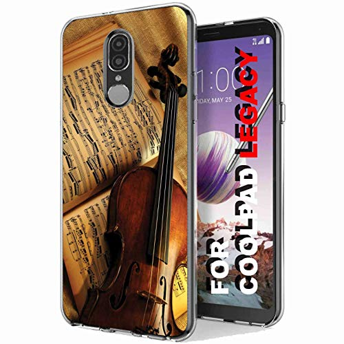 VIBECover Slim Case for Coolpad Legacy, Not for Coolpad Legacy Go, Violin and Note Design Light Weight, Unbreakable, Flexible, Surround Edge Protection