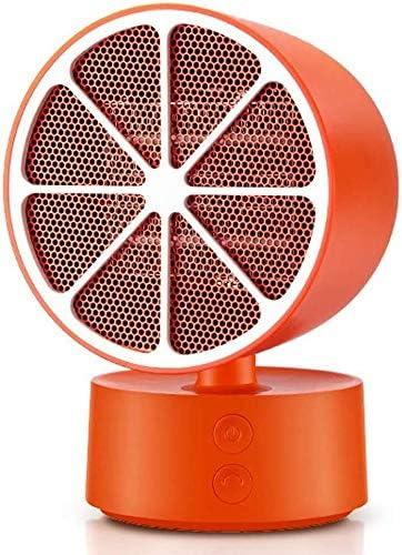 ZHWEI 過熱保護機能およびロールオーバーとファンヒーター、電気ヒーター350W、レモン、 ポータブル (Color : Orange)