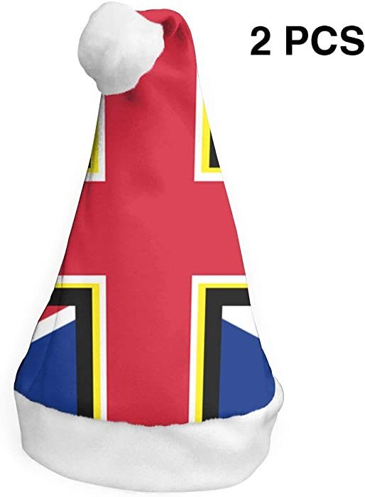 8c52b2bf860d9 Amazon.com  Horizon-t British Flag Christmas Santa Hat Holiday Christmas  Party Hat Xmas Decoration for Adults Children 2 PCS  Clothing
