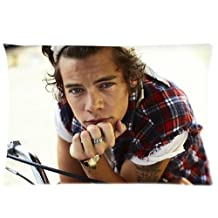 Bedroom Decor Custom 1D One Direction Harry Styles Pillowcase Soft Zippered Throw Pillow Cover Cushion Case Covers Fasfion Design Two Sides Printed 20x26 Pillows