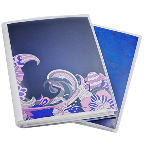 - 5 x 7 Photo Albums Pack of 2, Each Photo Album Holds Up to 48 5x7 Photos. Flexible, removable covers come in random, assorted patterns and colors.