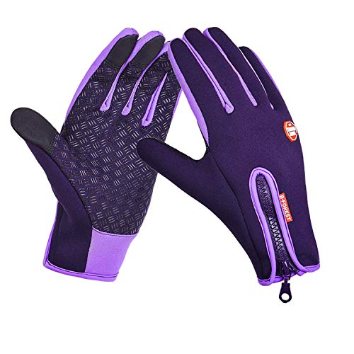 (IPENNY Womens Mens Winter Warm Touch Screen Gloves Windproof Waterproof Thermal Gloves Smartphone Texting Hand Warmers Cycling Running)
