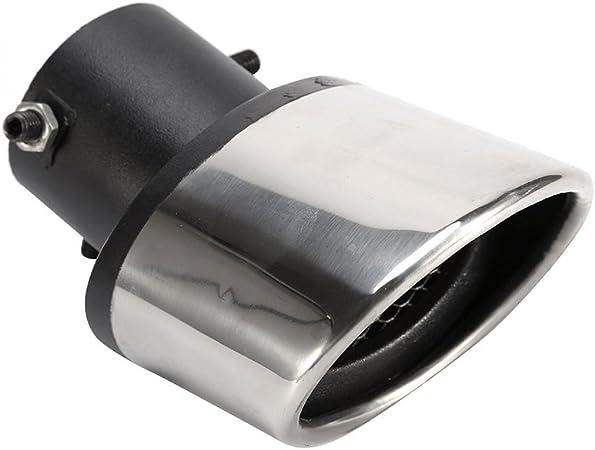 Extremo del extremo del tubo del silenciador del escape del coche curvado con una llave hexagonal