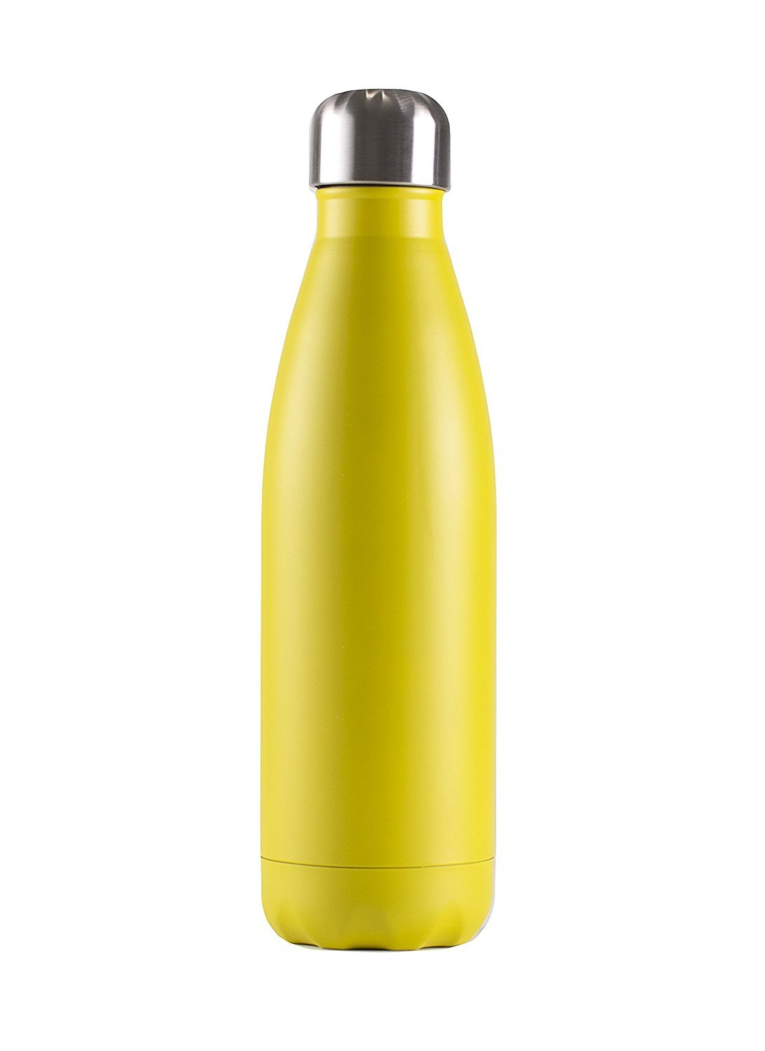 Yellow 500 ml Double Walled Stainless Steel Cola Shape Travel Sports Water Bottle Vacuum Insulated Water Bottle Keeps Your Drink Hot /& Cold BPA Free BonBon 17 Oz