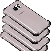 4Pack Galaxy S7 Edge Clear Case, ibarbe Slim Fit Heavy Duty Protection Scratch Resistant TPU Bumper Case Cover for Samsung Galaxy S7 edge not for S7