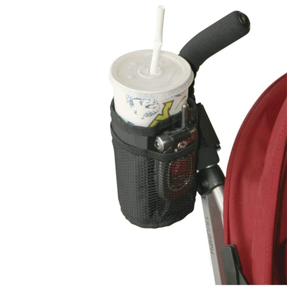 Kinderwagen Getr/änkehalter Wasserflasche Taschen Sicher H/ängen Lagerung Flasche Beutel Becherhalter Schwarz