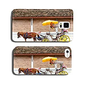 A Carriage with brown horse cell phone cover case iPhone6