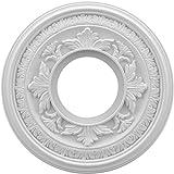 Ekena Millwork CMP10BA Baltimore Medallion Thermoformed Pvc Ceiling, 10'' OD x 3 1/2'' ID x 3/4'' P, White