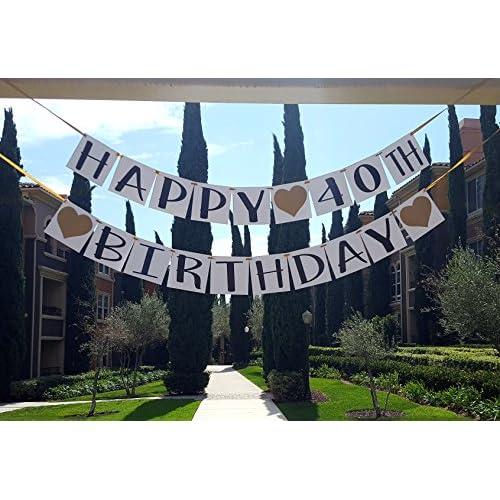 Happy 40th Birthday Banner