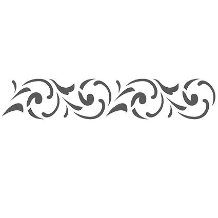 Amazon Com J Boutique Stencils Wall Border Stencils Pattern 034