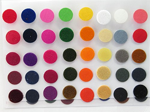 Coloured Collection - 250 Plain Colored Round Bindis Size 8.5mm / Multicolor Bindis/ Plain Kumkum Bindis/ Big Round Bindi Stickers