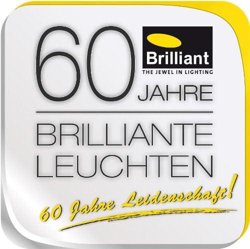 60 W Brilliant AG 94088//70 E27 WA//DE dm400 Blanc//Gris M/étal