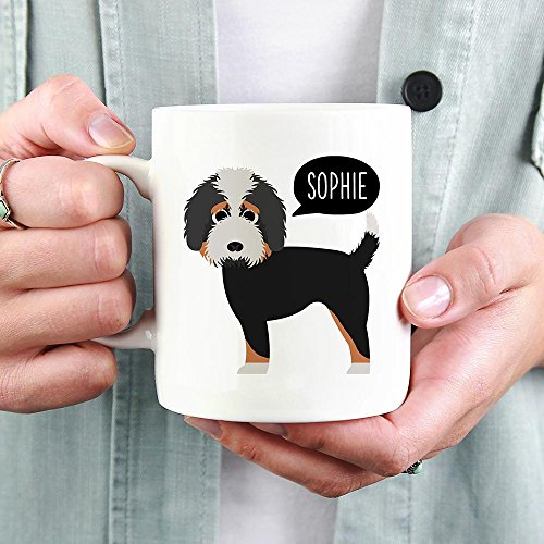 PERSONALIZED BERNEDOODLE DOG MUG, Dog Funny Mugs, Dog