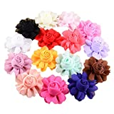 PET SHOW Dog Charms Flower Collar Accessories For Cat Puppy Collars Bowtie Valentine's Day Grooming Pack of 15