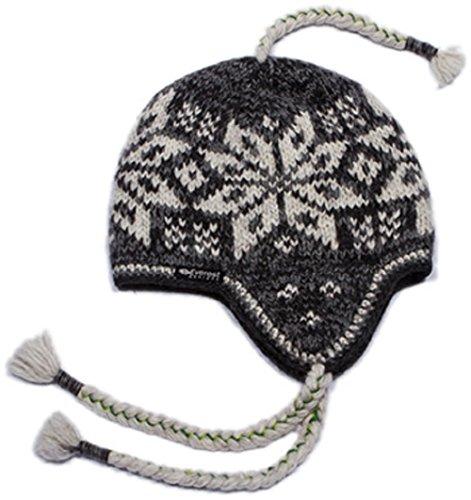 Big Snowflake Ear Flap Hat - Flap Everest Hat