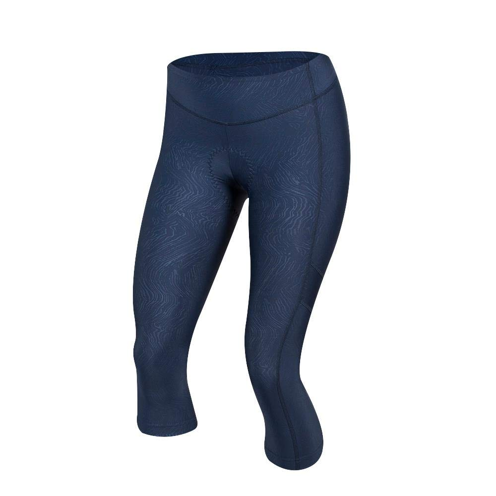 Pearl iZUMi W Escape Sugar Cycling 3/4 Tight, Navy Phyllite Texture, Small