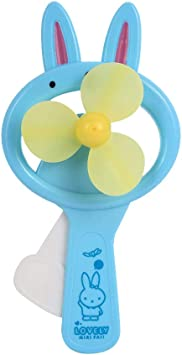 Beautyrain Ventilador de Mano de los niños Ventilador portátil de Juguete de Conejo Mini Cartoon para Viajar al Aire Libre y al Azar de Color en el hogar: Amazon.es: Electrónica
