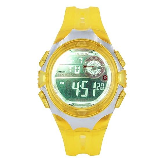 Relojes Niños Digital Relojes de Pulseras Chicos Niñoa Chicas Deportivo Impermeable Led Eléctrico Calendario Alarma Timer Reloj Adolescente júnior de Cuero ...