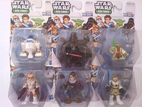 Playskool Heroes Star Wars Jedi Force Bundle, Complete Set of 6, including: Clone Commander Cody, R2-D2, Yoda, Anakin Skywalker, Darth Vader & Obi-Wan Kenobi