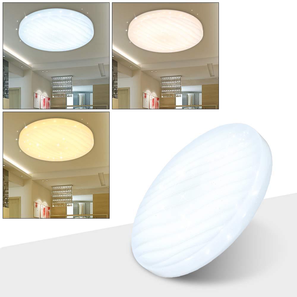 Hengda 50W Farbwechsel Deckenlampe LED Deckenleuchte Lampen ideal f/ür Badezimmer Balkon Flur K/üche Wohnzimmer Badezimmerlampe