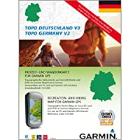Garmin Topo Deutschland Gesamt V3 - Freizeit- und Wanderkarte für GPS Geräte auf DVD und microSD