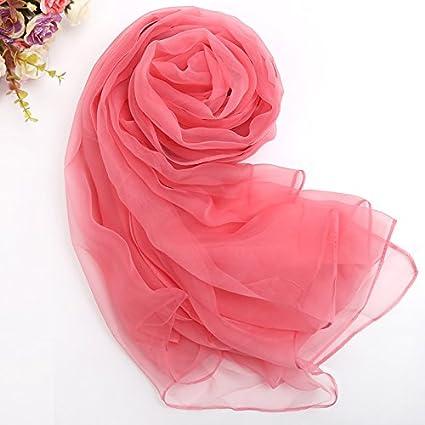 ZHANGYONG Pañuelo de seda de primavera y verano hembra Mantón de seda largo multifuncional ultra-