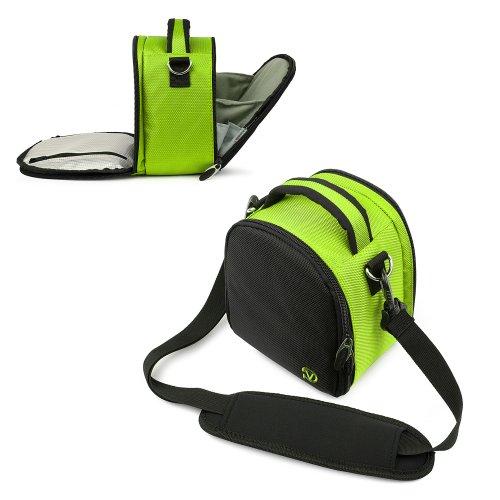 - Entry Level Nikon Digital SLR/Nikon SLR Camera Case, Flip Out Design Accessories Bag Bundle (Lime Green Laurel Luxury Case) Guaranteed to fit Any NIkon HD Digital Camera