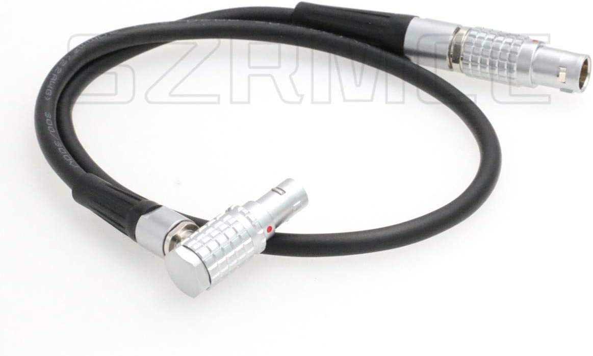 SZRMCC 1B 6 Pin Male to Right Angle 0B 2 Pin Male Power Cable for DJI Ronin 2 Gimbal Stabilizer 6 pin to SmallHD 503 703 Monitor Teradek Bolt 300 500 600