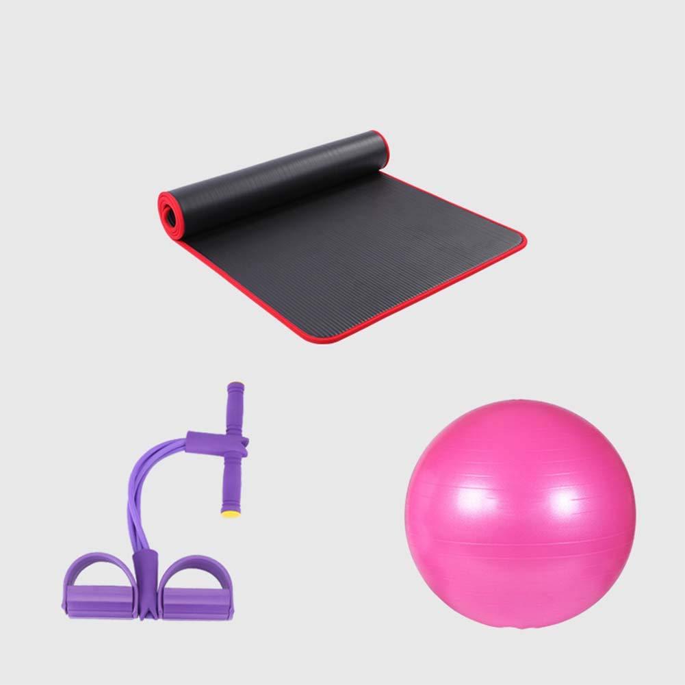 Rose Qys Tapis De Yoga Ballon De Yoga Et Extracteur 4 Brins Costume Trois Pièces pour Exercice Fitness Gymnase Bodhi