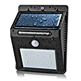 Flexzion Solar Outdoor Lights - Wall Lighting Lamp Solar Powered Motion Activated Sensor Security Wireless Waterproof 6 LED For Garden Patio, Fencing, Deck, Yard, Home, Path, Driveway, Stairway