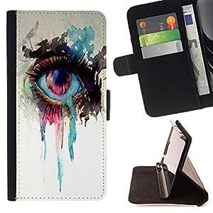 Dragon Case- Caja de la carpeta del caso en folio de cuero del tirš®n de la cubierta protectora Shell FOR LG Optimus G2 D800 D801 D802 D803 VS980 F320- Beautiful Eye Eyes Girl