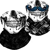 Neck Gaiter Skull Face Mask Bandana Shield for Half Face Rave Mask Men Women