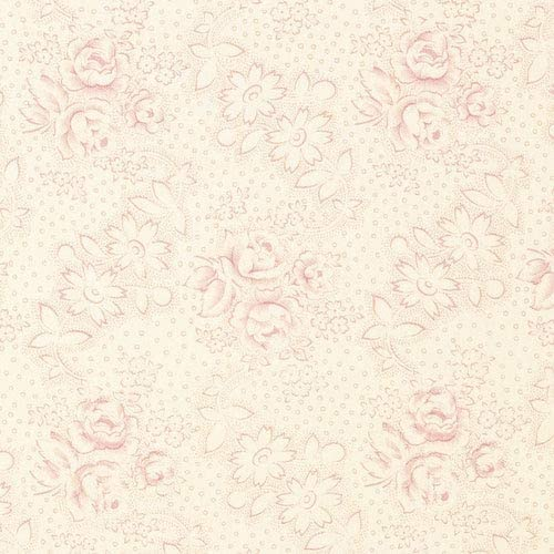 Ballerina Beige Pink Floral Print Pattern Toile Prints Prints converted Upholstery Fabric by the yard