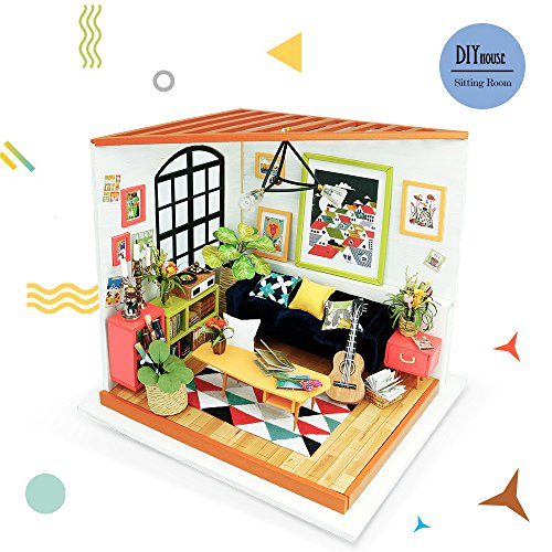 Rolife DIY Mini House Furniture Kit with Furniture and Accessories-Home Decor- Model Building sets-Super Fun Playset-Creative Birthday Easter Day Gift for Boys and Girls (Furniture Diy Garden)