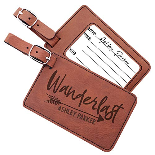 (Luggage Tags Personalized Name Custom Cruise Tags For Women Men Kids Families | 6 Different Color Monogram Luggage Name Tags Christmas Gifts For Travelers Leatherette Suitcase Tag Travel Bag Label #3)