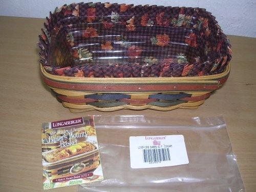 Longaberger Baker's Bounty Basket 1998 with Shades of Autumn Liner & Protector