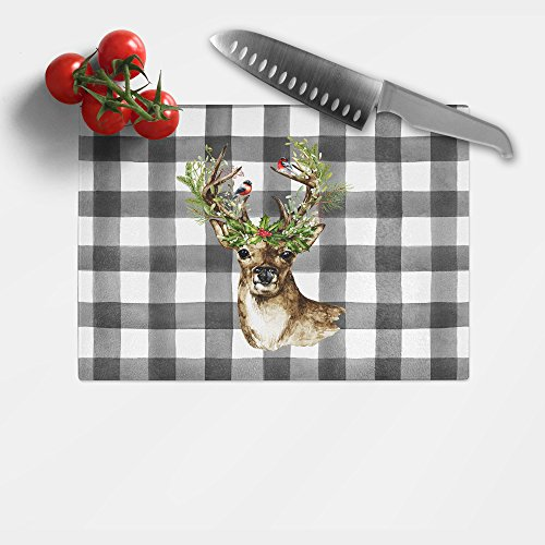 Jk Adams Novelty Board (Holiday Tempered Glass Cutting Board - 8