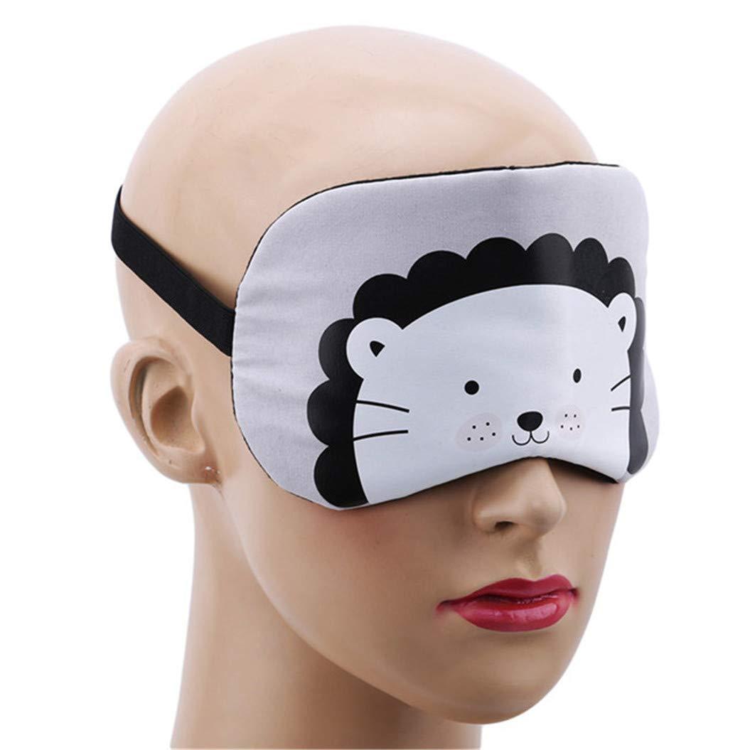 LZIYAN Cartoon Sleep Eye Mask Cute Animal Pattern Eye Mask Blindfold Eye Patch Sleeping Eyeshade Travel Shade Cover,Lion by LZIYAN (Image #5)