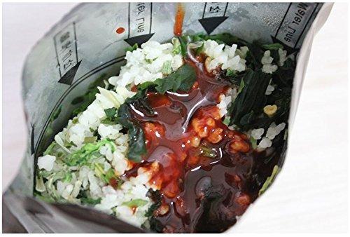 Alimento picante, arroz de carne de vacuno MRE Bibimbap de Corea militar, 120 g/3 unidades: Amazon.es: Jardín